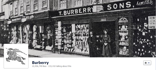 Burberry's Facebook Cover Photo